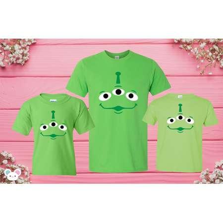 Disney Inspired Toy Story Aliens T-shirts Disneyland T-shirts Pizza Planet Alien Disney Toy Story T-shirt thumb