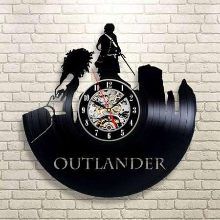 Outlander Movie Retro Vinyl Record Wall Clock Vintage Wall Clock Modern Outlander Art Xmas Gift Idea For Boy New Year Gift For Him thumb