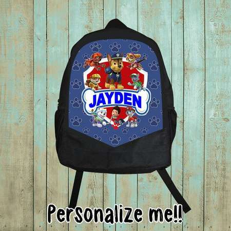 Personalized, Paw Patrol Backpack, Paw Patrol Birthday Shirt, Birthday gift, Christmas gift, boy, B87 thumb
