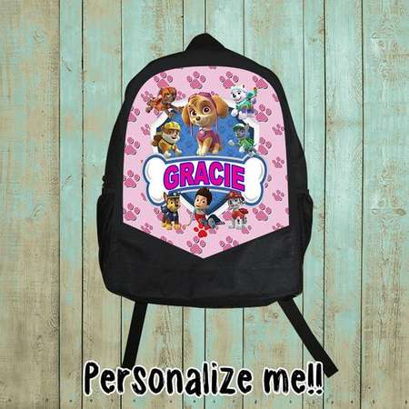 Personalized, Paw Patrol Backpack, Paw Patrol Birthday Shirt, Birthday gift, Christmas gift, girl, B88 thumb