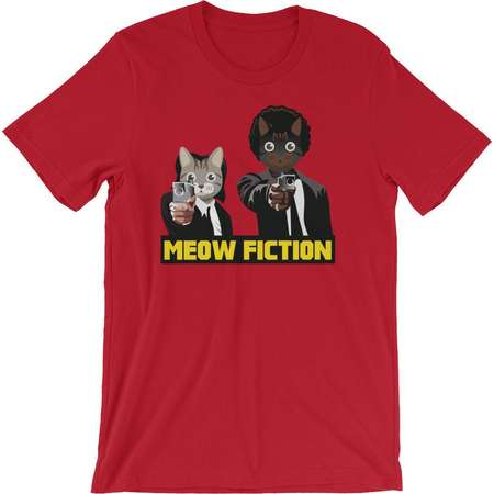 Pulp Fiction - Awesome Cat Pun - Parody Short-Sleeve Unisex T-Shirt thumb