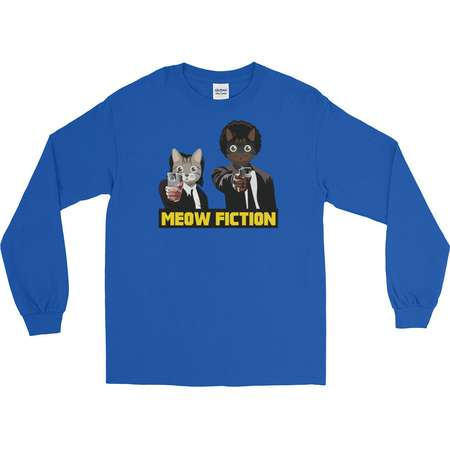 Pulp Fiction - Awesome Cat Pun - Parody Long Sleeve T-Shirt thumb