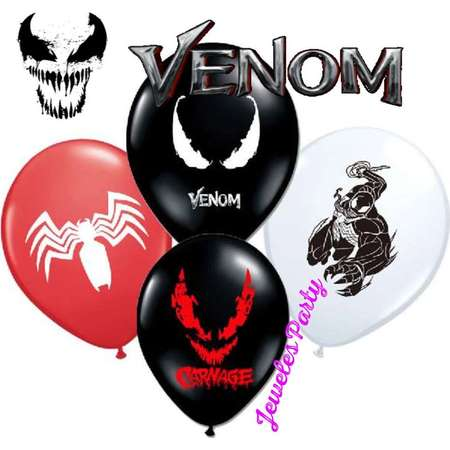 "12"" Venom Carnage Spiderman Birthday Balloons Decoration Supplies thumb"