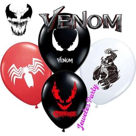"12"" Venom Carnage Spiderman Birthday Balloons Decoration Supplies thumb"