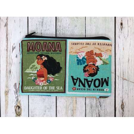 Moana small zipper pouch, pencil pouch, makeup organizer bag, gift for her, baby gift, first aid pouch, baby organizer, pencil case thumb