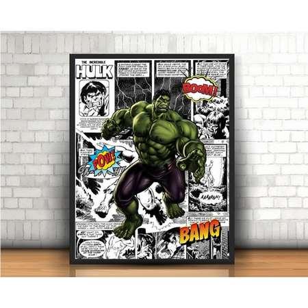 The Incredible Hulk Print, Gift for Him, Gift for Husband, Hulk Art, Super Hero Room, Superhero Print, Superhero Art, Vintage Comic Book Art thumb