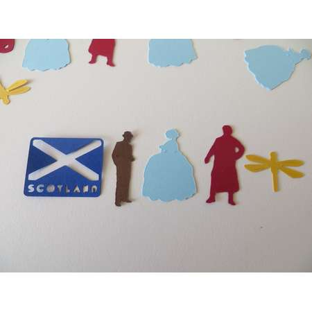 Outlander Inspired Confetti - Set of 130 - Handmade - Claire, Jamie Fraser, Scotland, Outlander Viewing Party, Book Club thumb