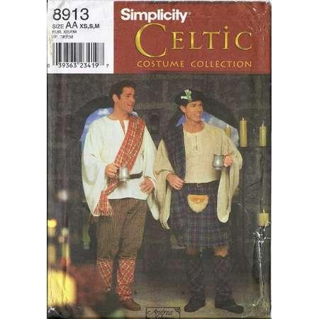Outlander Jaime costume pattern - shirt, kilt, spats, drape, pants, hat in Men's sizes  Simplicity 8913 UNCUT & FF (1999) K1428 thumb
