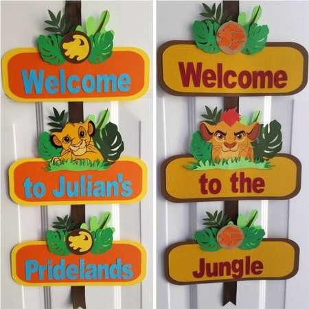 Lion King Door Sign, Lion Guard Door Sign, Simba, Kion, Lion King, Lion Guard thumb