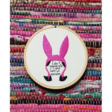 "Lousie Belcher 5"" Embroidery Hoop - Bob's Burgers thumb"