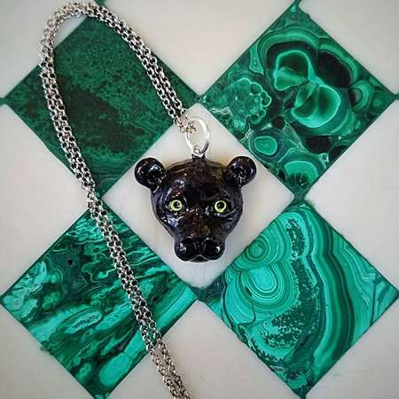 Bagheera Black Panther Necklace thumb