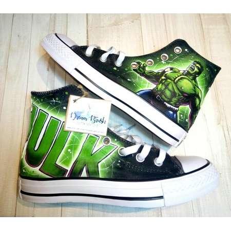 the Hulk custom hand painted Converse shoes,the  Hulk converse , Marvel converse , super hero shoes, the incredible Hulk, comic inspired art thumb