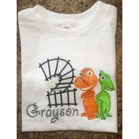 c972ead1ca5 Personalized Birthday Dinosaur Train shirt - matching shorts available on  request! Buddy   Tiny thumb