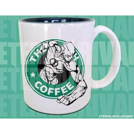 The Scarlett Speedster Comic Book Hero Coffee Parody the flash Mug thumb