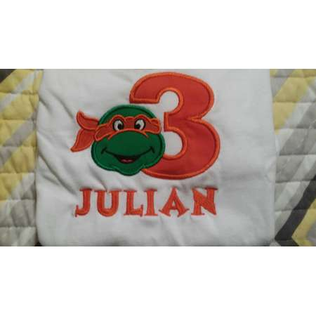 Teenage Mutant Ninja Turtles Numbered 1-9  Monogrammed/Personalized Shirt thumb