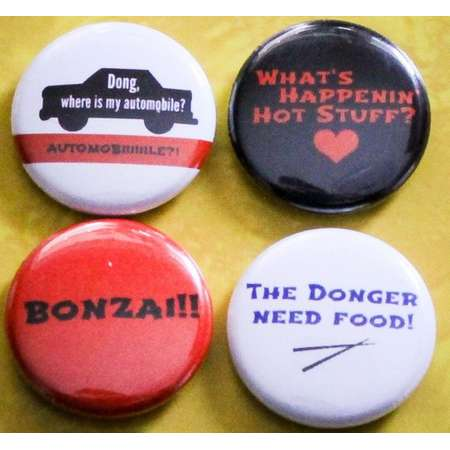 """Sixteen Candles (Donger Pack) Set of 4 - 1"""" Pinback Buttons thumb"""
