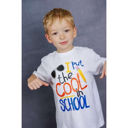 I Put the Cool in School Shirt or Bodysuit - (0-24 months)(2T-16) Unisex - school, first day of school, 1st day, boy, back to school thumb