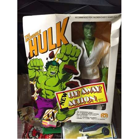 """Mego 12"""" The Incredible Hulk Fly away set NOS NRFB sealed new old stock thumb"""
