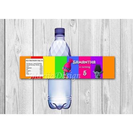 Trolls water bottle labels, Trolls water bottle, Trolls, Trolls Bottle Labels, Trolls water labels, Trolls water label - ONLY FILE thumb