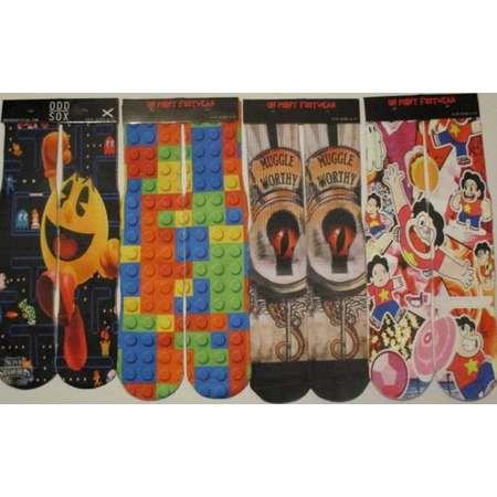 4 pairs of novelty socks smash bros pacman legos harry potter steven universe footwear thumb