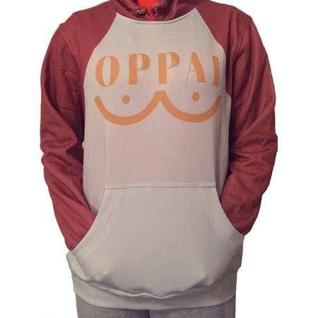 One Punch Man Oppai Saitama Inspired Sweatshirt thumb