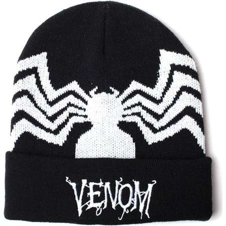 Official MARVEL COMICS Spider-Man Venom Beanie Ski HAT Rollup Quality Gift thumb