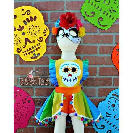 Coco inspired Outfit, dia de los muertos outfit, Coco Baby Outfit, Coco Costume, dia de los muertos toddler outfit, Co Co inspired Romper thumb
