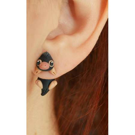 Niffler earring, Select 1 earring or a pair (2 in ''quantity'') inspired in Fantastic beasts and where to find them (Harry Potter) thumb