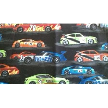 "Valance 42"" X 15"" panel ""Race Cars"" thumb"