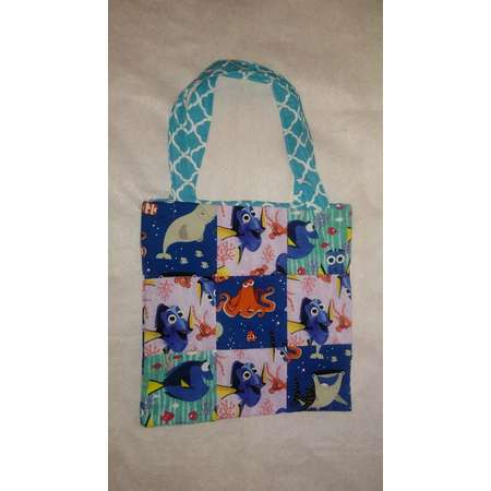 Quilted Handbag, Disney's, Finding Dory, Handmade, Purse, Book Bag, Shoulder Tote, Destiny, Nemo, Stocking Stuffer, Eco Friendly, Washable thumb