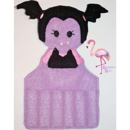 Vampire Girl Crayon Holder, Vampire Girl Valentine Gift, Party Favor, Vampirin, Vamparin, Birthday Gift thumb