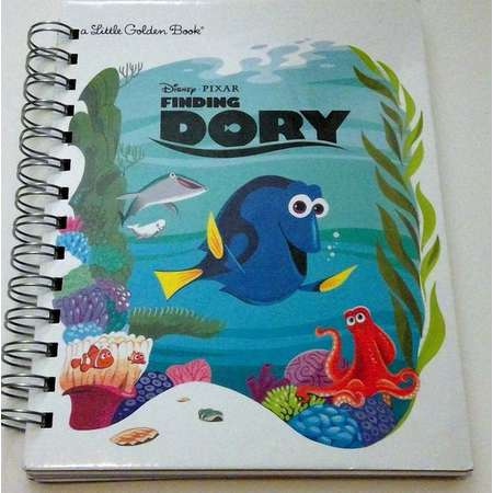 Finding Dory, storybook journal, recycled journal book, little golden book journal thumb