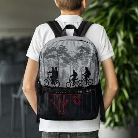 Stranger Things Parody Backpack - The upside down, Lucas, Eleven, Mike,  Dustin, Will and Demogorgan Great gift, Back to School! 8d9b857780