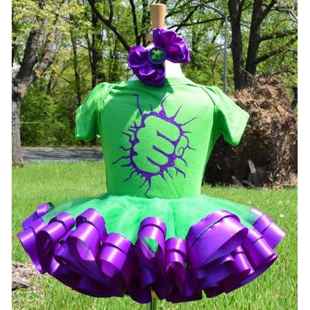 RTS 12-24M: Hulk Tutu Costume - Incredible Hulk Costume - Green Monster Costume - Halloween Tutu - Halloween Costume - Hulk Birthday Tutu thumb