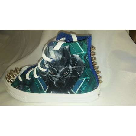 Custom, Black Panther, Converse shoes, for kids-Marvel with matching Converse bookbag and a free matching t-shirt thumb