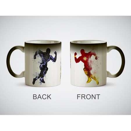 The Flash vs Zoom Watercolor Art Print cup Coffe Tea Magic or White Mug picture superhero Hunter Zolomon Professor Zoom Barry Allen thumb