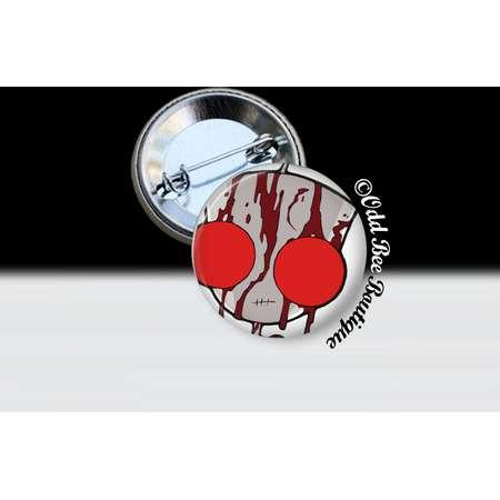 Invader Zim Bloody GIR Pin - Animation Cartoon Brooch - Jhonen Vasquez Button - Robot Comic Book Alien Accessory Gift - Glass Pin or Button thumb