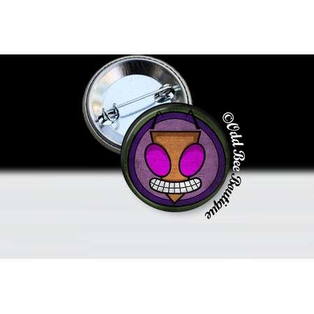 Invader Zim Pin  - Animation Cartoon Button - Jhonen Vasquez Accessory - Robot Comic Book Alien Symbol Gift - Glass Pin or Button thumb