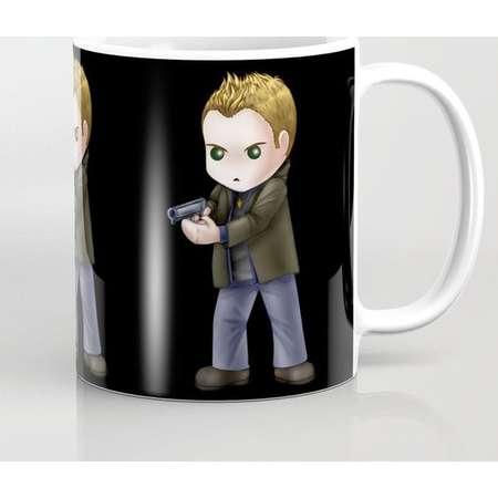 Supernatural Chibi Dean Winchester Mug and Travel Mug, 3 Sizes/Styles + Black or White BG Available! thumb