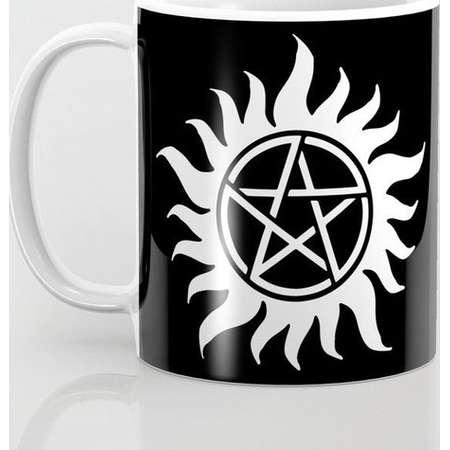 Supernatural Anti Possession Sigil Mug and Travel Mug, Black & White Sigils + 3 Sizes/Styles Available! thumb