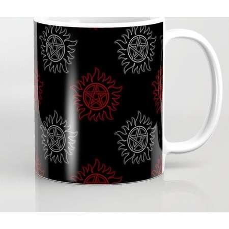 Supernatural Anti Possession Mug and Travel Mug, 3 Sizes/Styles Available! - Dual Glow thumb