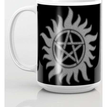 Supernatural Carry On Pentacle Mug and Travel Mug, 3 Sizes/Styles Available! thumb