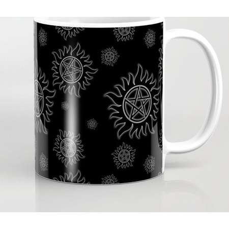 Supernatural Anti Possession Mug and Travel Mug, 3 Sizes/Styles Available! - White Glow thumb