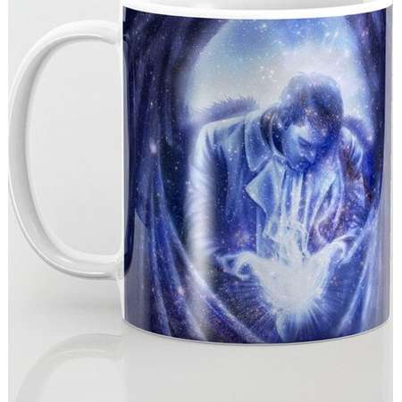 Supernatural Castiel Mug and Travel Mug, 3 Sizes/Styles Available! - Angel in Blue thumb