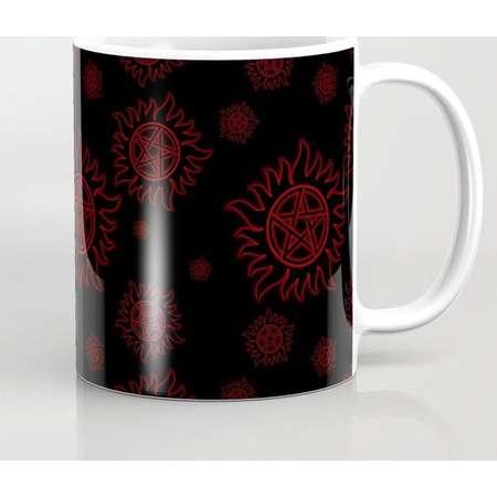 Supernatural Anti Possession Mug and Travel Mug, 3 Sizes/Styles Available! - Red Glow thumb