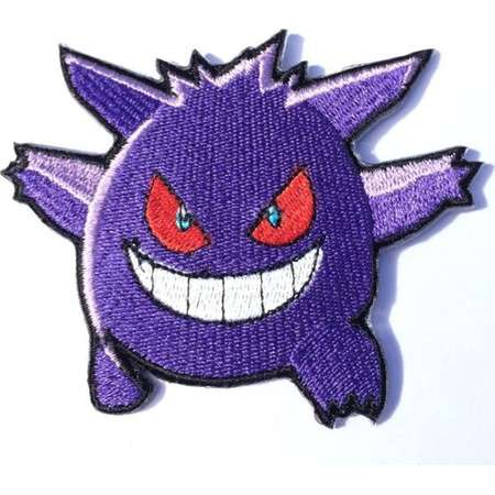 Gengar Patch Pokemon Go Embroidered Sew/Iron-on Badge Applique Costume Cosplay Retro Game Boy Collectible Souvenir Hat Bag Jacket Backpack thumb