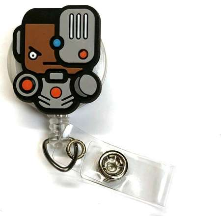 New Cyborg Justice League DC Comic Inspired ID Badge Reels! Teen Titans, Victor Stone, Great guy gift, teacher, nurse gift! thumb