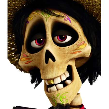 Hector Face Temporary Tattoos for Coco Inspired Costume thumb