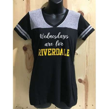 Wednesdays Are For Riverdale Juniors Varsity V-Neck Tee / Riverdale Vixens Football Captain / Andrews Blossom Jughead Wednesday Riverdale thumb