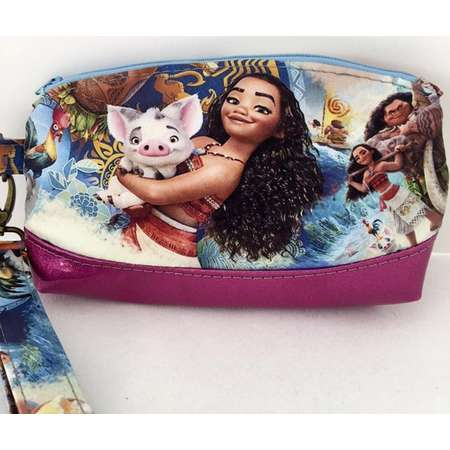 Moana Clematis Wristlet Clutch Cute Adorable Unique Gift Make Up Cosmetics Bag thumb